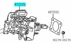 Toyota Genuine 47050-76030 Brake Booster Assy And Master Cylinder Lexus Ct200h