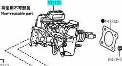 Toyota Genuine 47050-78030 Brake Booster Assy And Master Cylinder Lexus Nx300 200t
