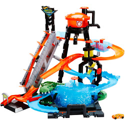 Hot Wheels Ultimate Gator Car Wash Play Set With Color Shifters Car Toy Gift