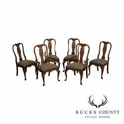Pennsylvania House Set 6 Vintage Solid Cherry Queen Anne Dining Chairs