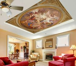 3d Vintage Painting Zhu614 Ceiling Wall Paper Wall Print Decal Wall Deco Amy