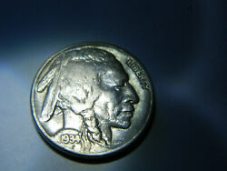 1934 5 Cents Buffalo Nickel - United States - Km134 - In Very Good Condition