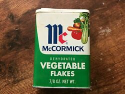 Vintage Mccormick Dehydrated Vegetable Flakes Spice Tin Soup Recipe