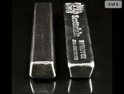 Great Investmt 1 -20 Troy Oz 999 Fine Silver Scottsdale Mt Lc Bar + Extras