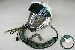 Air Force Mig-21 Fighter Pilot Flying Helmet,pull Down Sunvisor + Fly Suit Dc-4