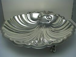 Frank Whiting Sterling Silver Dish Shell Seafood Platter For J.e.caldwell C1900s