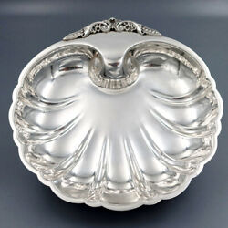 Antique Vintage American Sterling Silver Serving Bowl Centerpiece Dish Shell 9