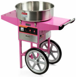 Vivo Electric Commercial Cotton Candy Floss Maker Machine - Pink Cart Stand