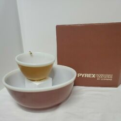 Pyrex Ware By Corning 5767 Harvest Brown Gold Chip Dip Clip Box Earthtones Mcm