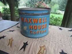 Vintage Coffee Tin Can Maxwell House Tx Advertising General Store Rare 3 Pound