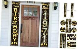 50th Birthday Door Banner Decorations For Men And Women Black Gold Made In