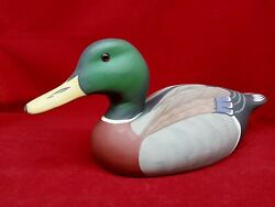 Hornick Bros Stoney Point Decoys Signed 1981 Duck Wood Vintage Decoy