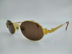 Jean Paul Gaultier Vintage Oval Sunglasses 58-5174 Lens Brown Made In Japan New