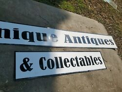 Advertising Hard Vinyl Sign Unique Antiques And Collectables10 Feet X 16 In
