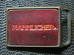 Mannlicher Arms Leather Belt Buckle Vintage Rare Tech Ether X Colonial Steyr