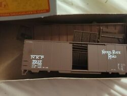 Vintage Ho Scale Accurate Finishing Inc Nkp 7037 Box Car Kit In Box New Train
