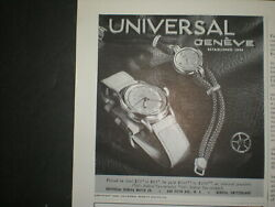 1945 Universal Geneve Mens And Woman Watch Vintage Trade Print Ad