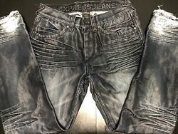 Express Menandrsquos Rocco Slim Straight Button-fly Blue Jeans 30x30