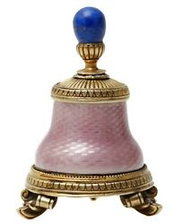 Faberge - Russian Imperial Silver And Diamond Enameled Glue Bottle