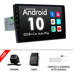 Obd+cam+carplay+10.1 Android 10 Car Stereo Radio Gps Double 2 Din No Dvd Player