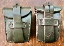 Rare 2 Leather Pouch F/2 Combs Ammunition Mauser Rifle 1891/1909 Argentine Model