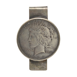 Vintage Sterling Silver Liberty Coin Money Clip