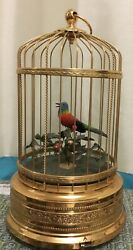 Singing Bird In A Cage Musical Automaton Box Mechanical Works Perfect New Video