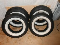 Vintage Coker Classic Lot Of 4 White Wall Tire's 7.50-14 2.25 Treadwall Ff