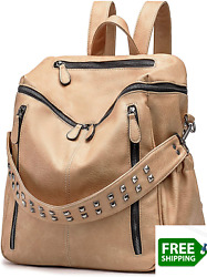 ROULENS Women PU Leather Backpack Purse Convertible Ladies Fashion Casual Travel $55.97