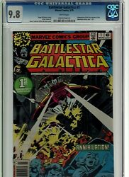 Battlestar Galactica 1 Cgc 9.8 And 2 Cgc 9.8 Marvel 1979 White Pages