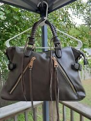 Urban Expressions Brown Leather Satchel Purse $17.99