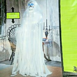 Rare Life Size Prop Gemmy Reaper Ghost Animated Led Strobe Lights Head Moves