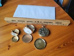 Vintage Waltham And Hampden Pocket Watches Lot Of 3