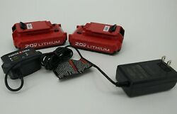 2 Brand New Genuine Porter Cable Batteries 1.5ah And Charger