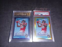 2018 Rated Rookie Optic Calvin Ridley Auto Rc Gold /10 /50 Lot Psa9 Bgs 9.5/10