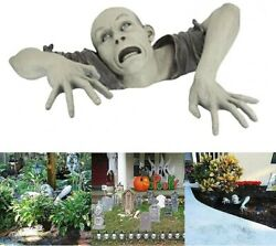 Halloween Decorations Scary Zombie Garden Statue Horror Swamp Creeping Ghost