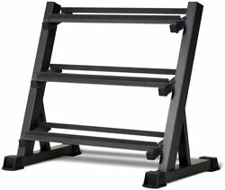 3-tier Dumbbell Rack Strength Train Workout Weight Storage Stand Organizer Home