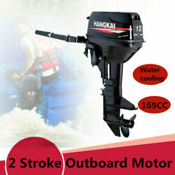 2-stroke 12hp Outboard Motor Fishing Boat Engine With Cdi Water Cooling 169cc Us