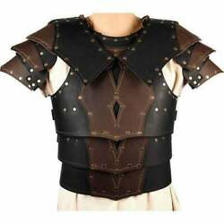 Medeival Jecket Collectibles Leather Cuirass With Pauldrons