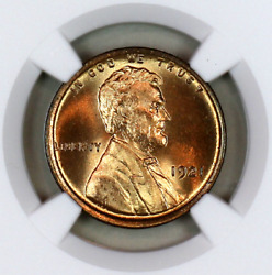 1921-p Ms65 Rd Ngc Lincoln Wheat Penny Registry Quality Collection