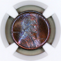 1915-p Ms66 Bn Ngc Lincoln Wheat Penny Registry Quality Collection