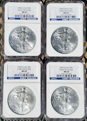 🎀 2009 Usd 1 4 Troy Ozs Silver American Eagle Ncg Ms69 Early Releases 3257137