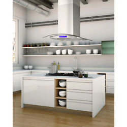 Cosmo Island Range Hood 30 In. Ducted Vent 380 Cfm Lighted Stainless Steel