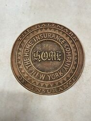Vintage - The Home Insurance Company Of New York Sign - Hallmark Of Insurance