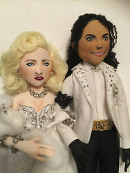 Madonna And Michael Jackson Doll Set - Incredibly Detailed Oscars Inspired