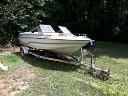 1985 Glastron Ssv-117 17' Feet Stern Drive Boat Powerboat For Rebuild Or Parts