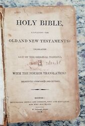 Look Very Rare Antique Bible. Published In Boston, Massachusetts In 1812.