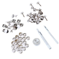 63x Boat Canvas Fastener Snap Cover Buttons Socket 15mm Screw Studs Kit
