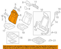 Ford Oem 12-14 Mustang Front Seat-cushion Cover-top Back Right Cr3z6364416ua