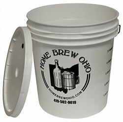 Midwest Homebrewing And Winemaking Supplies 7.9 Gallon Plastic Fermentor With...